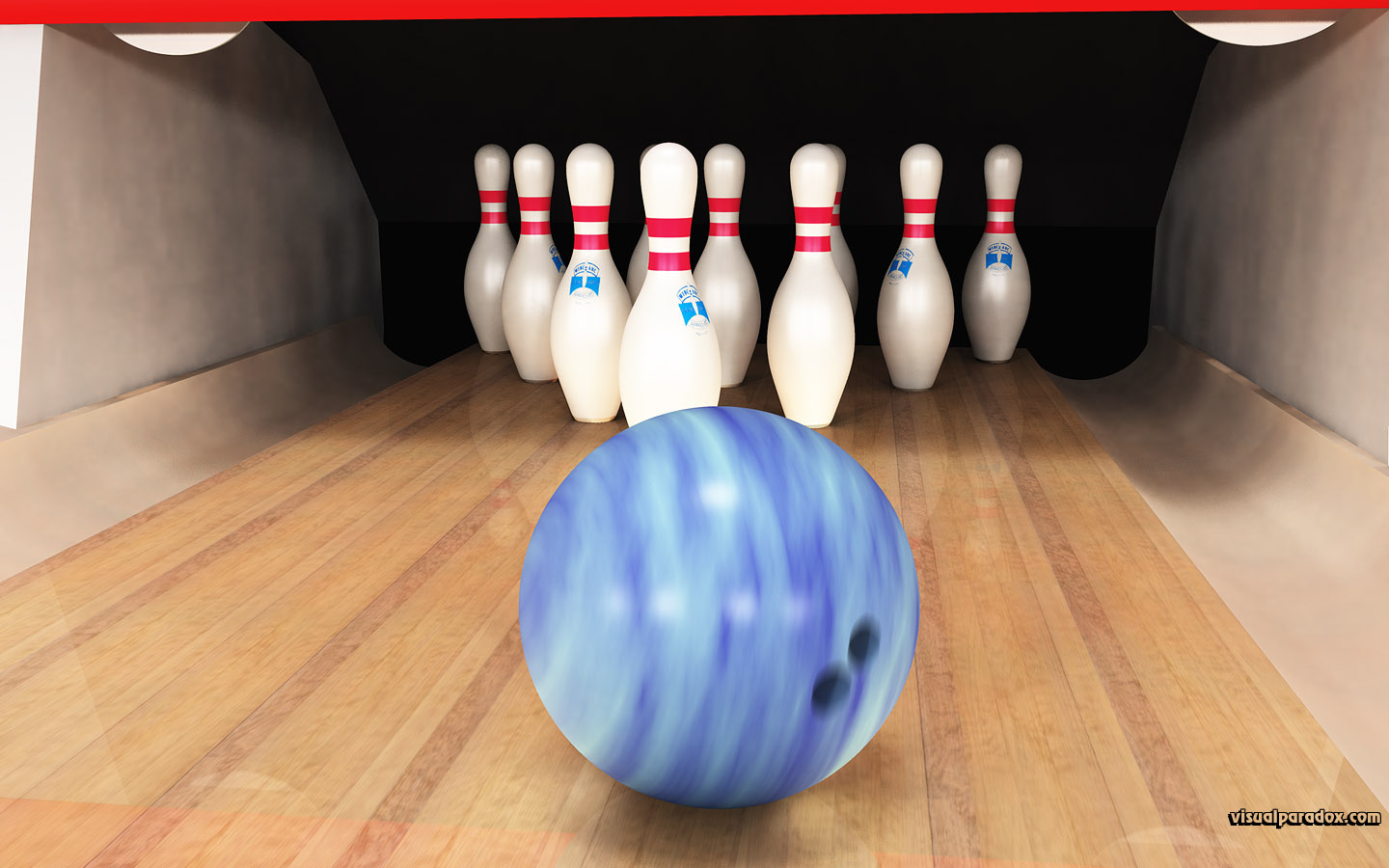 bowling ball pins lane alley game sport strike spare bowl ten pin, 3d, wallpaper, widescreen