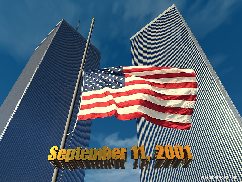 flag, wtc, world, trade, center, memorial, terrorist, attack, hijack, america, honor, , 3d, wallpaper