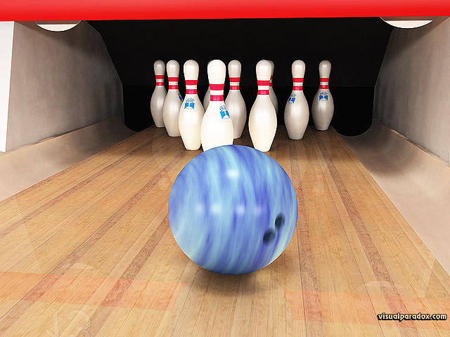 Free 3D Wallpaper 'Bowling' 640x400
