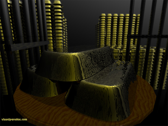 Free 3D Wallpaper 'Bullion' 640x400