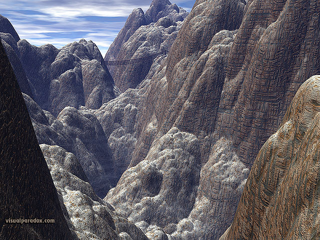 Free 3D Wallpaper 'Canyon Crossing' 640x400