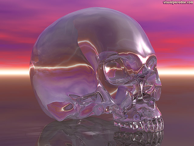 Free 3D Wallpaper 'Crystal Skull' 640x400