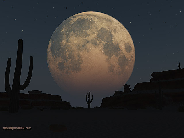 3d wallpaper of moon