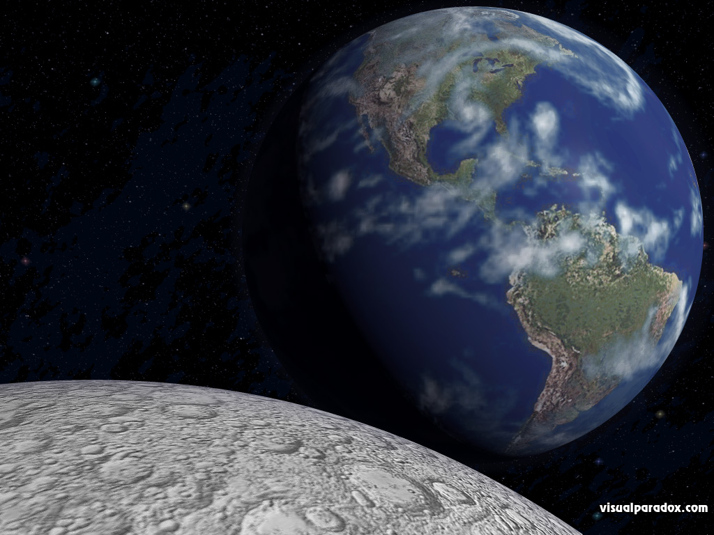 free 3d wallpaper 'earth rise' 1024x768
