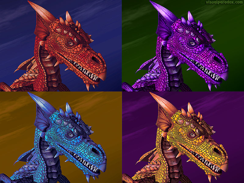 Free 3D Wallpaper Four Dragons 800x600