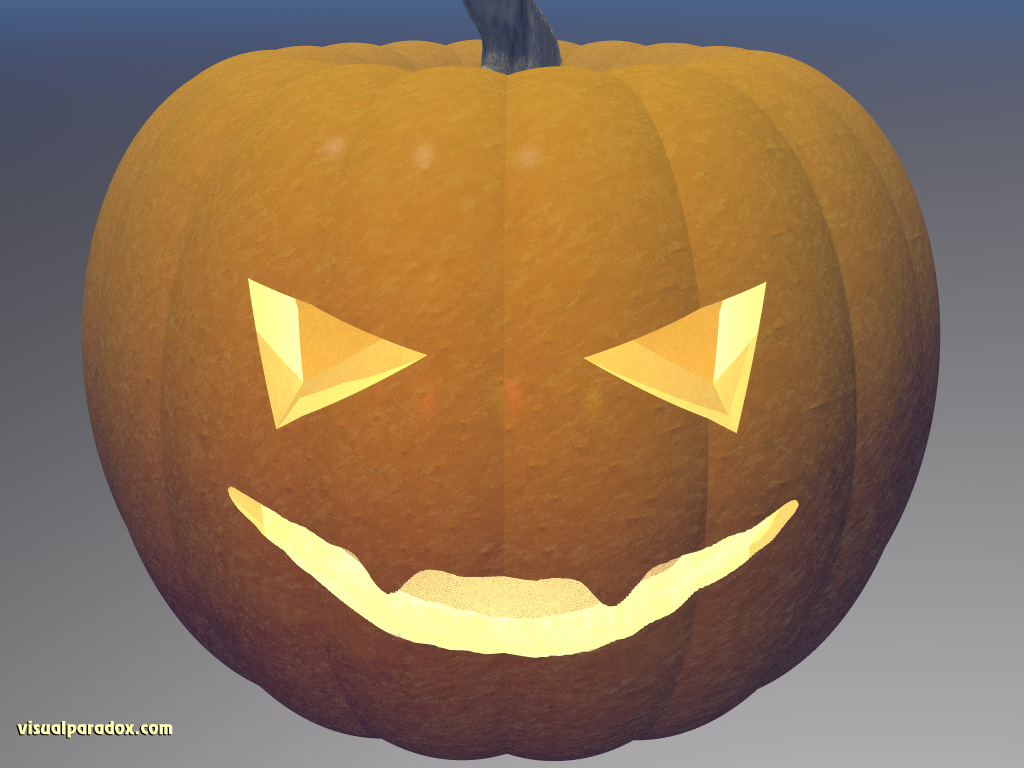 carved, pumpkin, halloween, holiday, candle, grin, orange, gourd, 3d, wallpaper