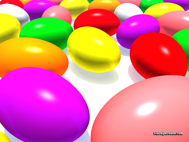Free 3D Wallpaper 'Jelly Beans' 640x400