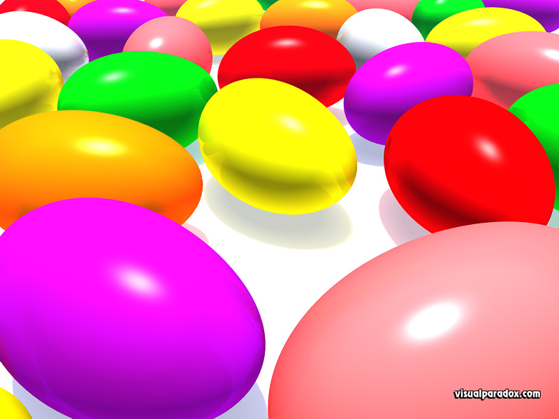 easter, holiday, candy, colorful, sweets, 3d, wallpaper