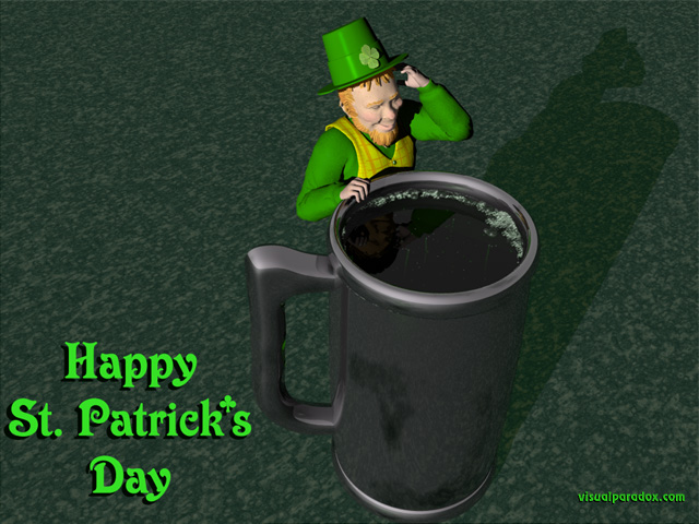 Free 3D Wallpaper 'Leprechaun' 640x400