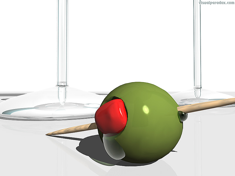 olive, drink, toothpick, alchohol, gin, vodka, party, bar , 3d, wallpaper