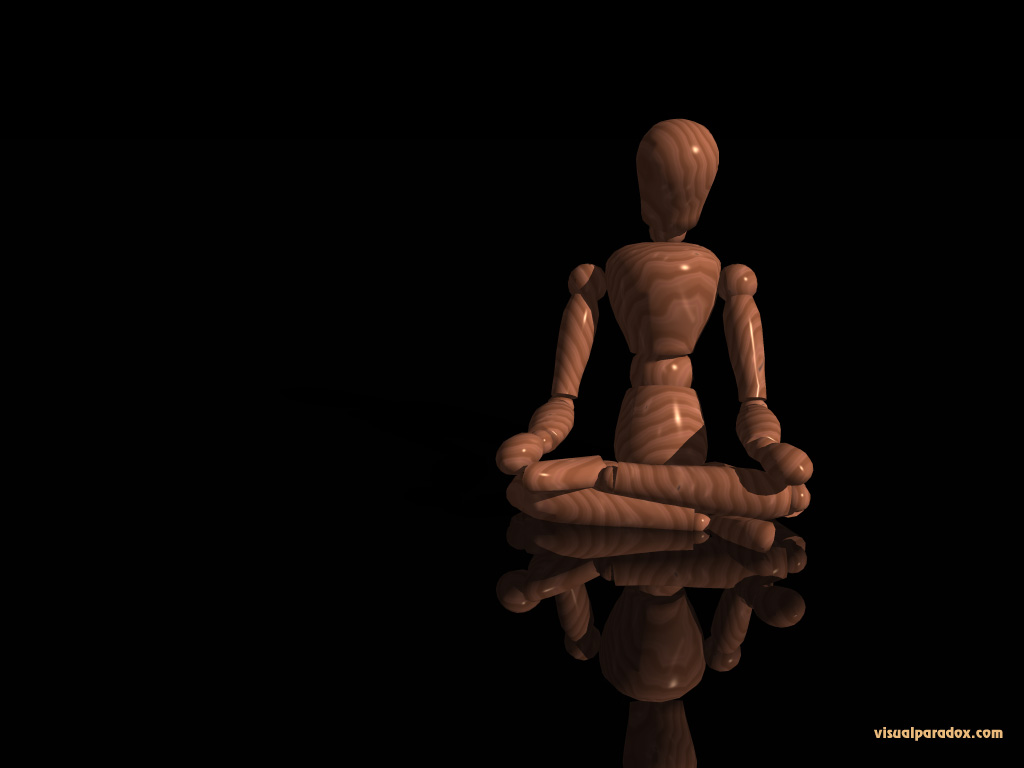 mannequin, wooden, doll, contemplation, yoga, solitude, poser, 3d, wallpaper