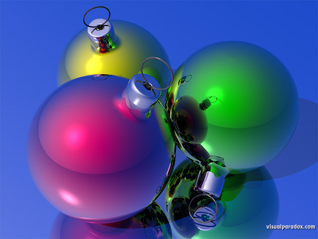 Free 3D Wallpaper 'Ornaments' 640x400