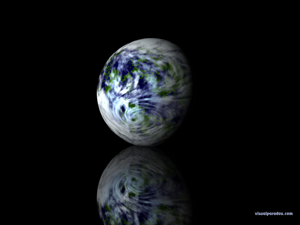 earth, planet, sphere, globe, reflection, planets, 3d, wallpaper