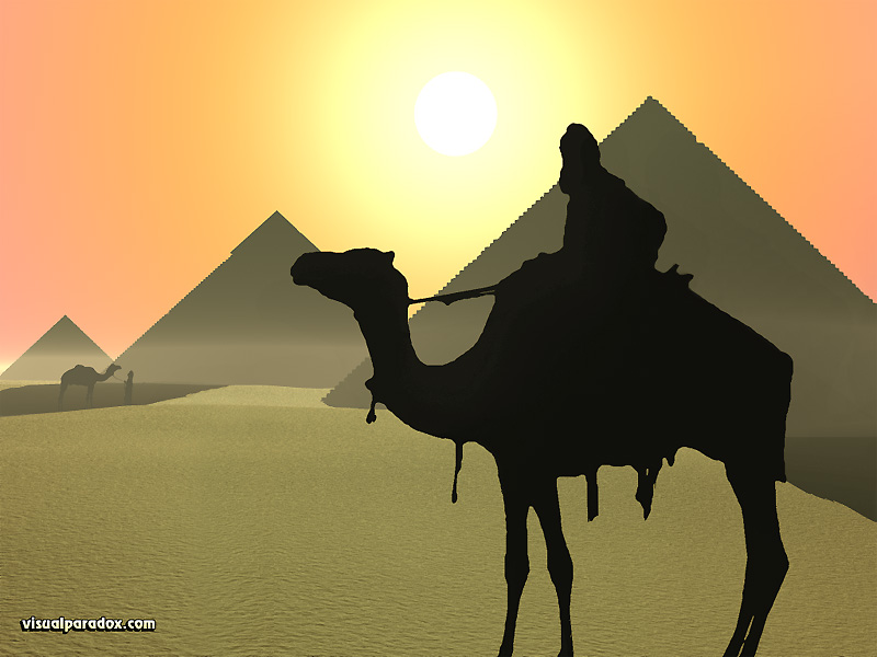 camels, buildings, Egypt, Gaza, desert, hot, dry, pyromid, pyramid, animal, animals, 3d, wallpaper