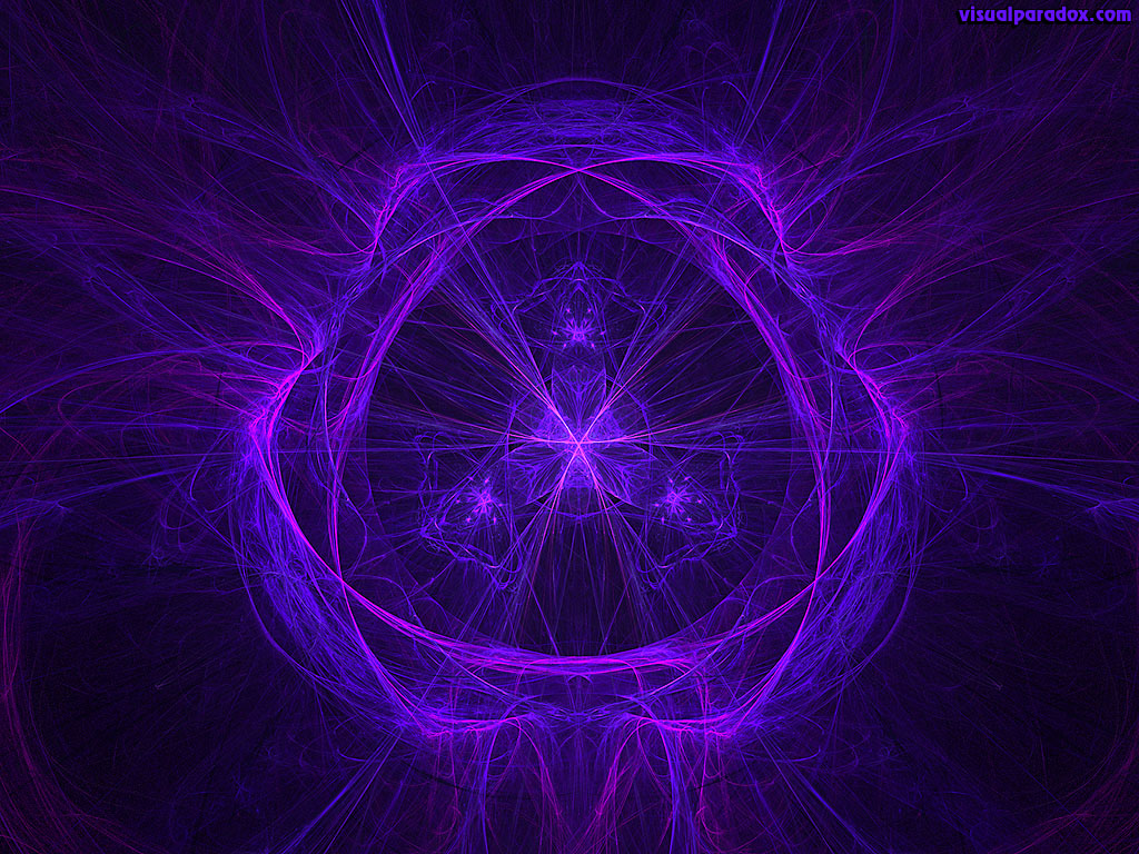 purple, blue, fractal, flame, center, lcd, color, 3d, wallpaper