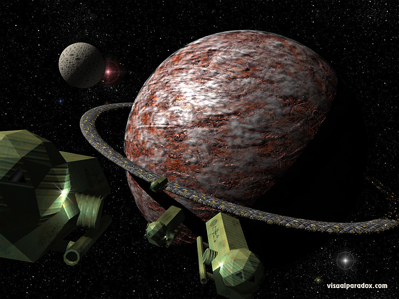 planet, space, ships, satellite, dyson, convoy, ship, 3d, wallpaper