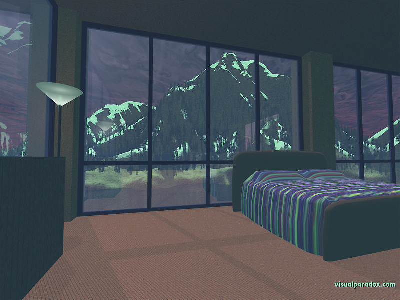 Free 3d wallpaper 39 room with a view 39 800x600 for Images of 3d wallpaper for bedroom