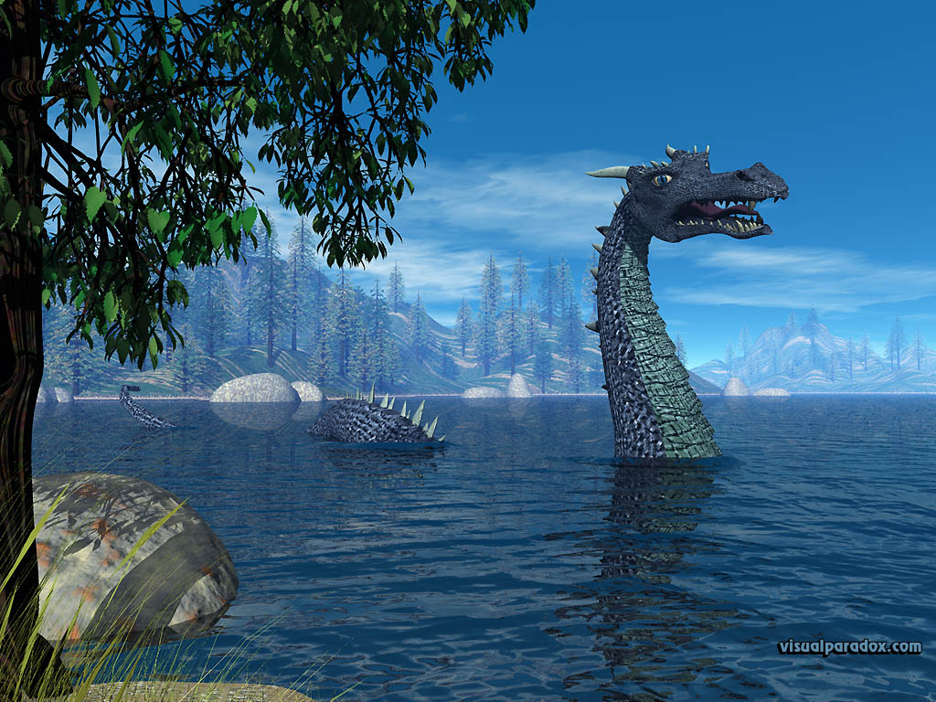 loc ness, monster, lake, water, dragon, sighting, 3d, wallpaper