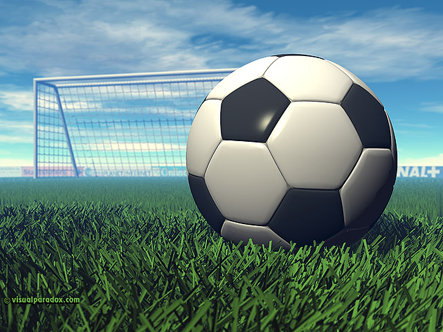 Free 3D Wallpaper 'Soccer Ball' 640x400