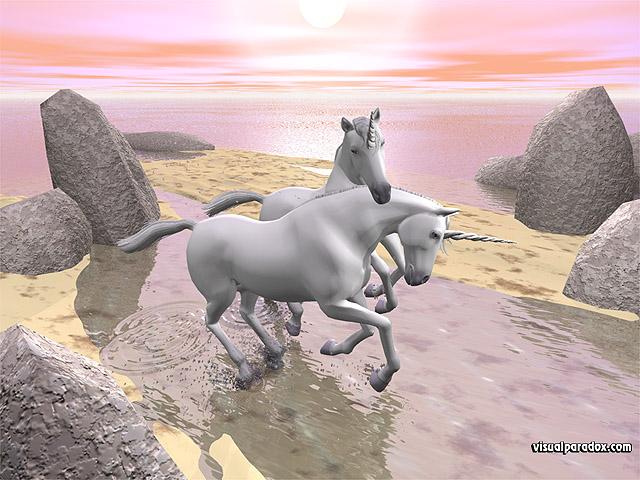 wallpaper 3d love. Free 3D Wallpaper #39;Unicorn
