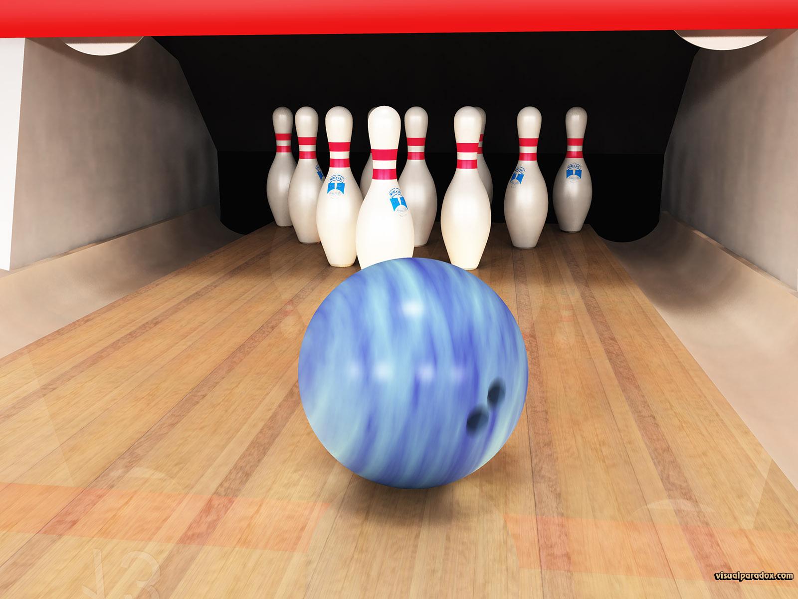 lane alley game sport strike spare bowl ten pin, 3d, wallpaper. Bowling
