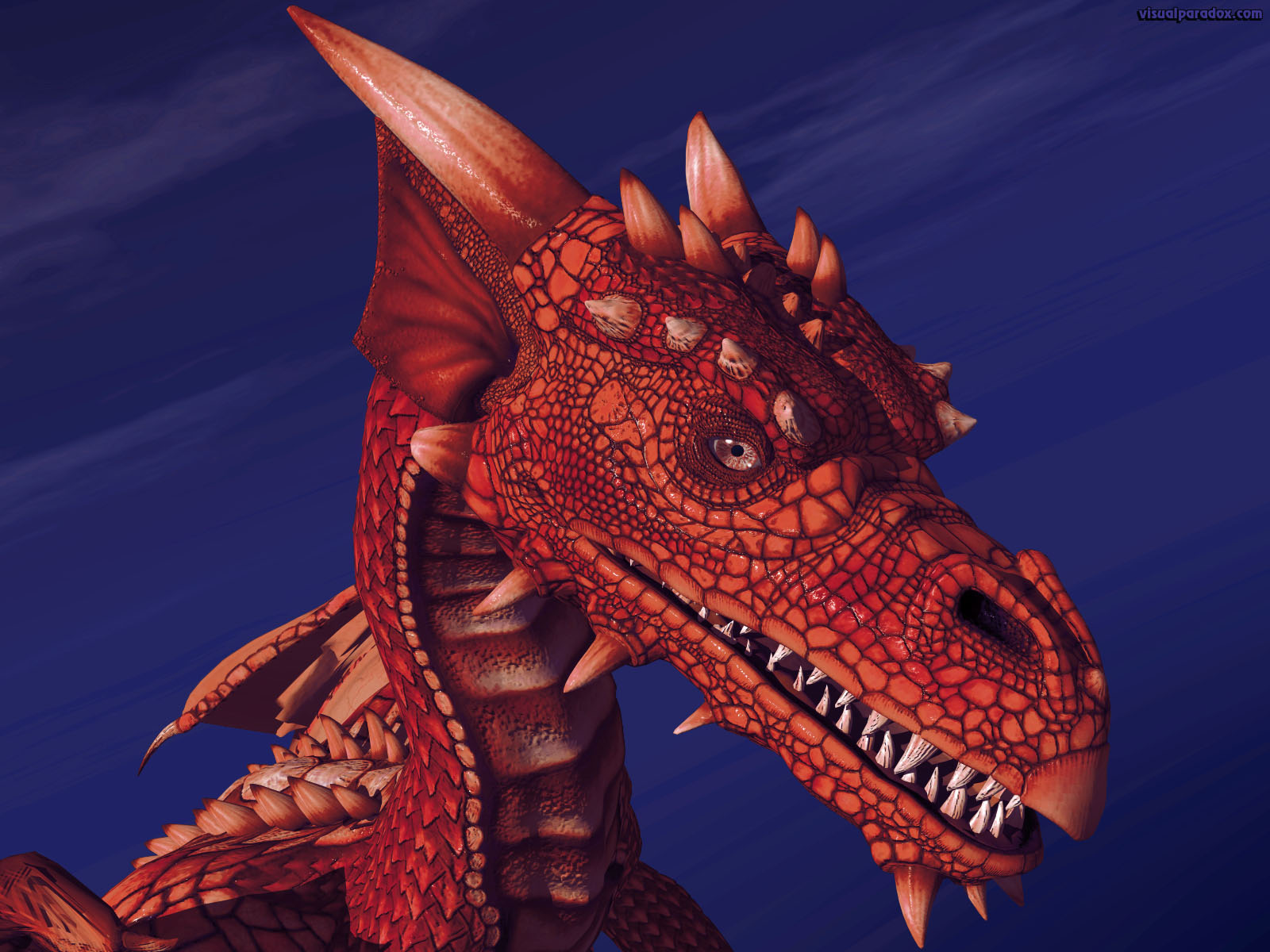 dragon, wyrm, mythical, monster, soar, closeup, detail, red, blood, crimson, dragons, 3d, wallpaper