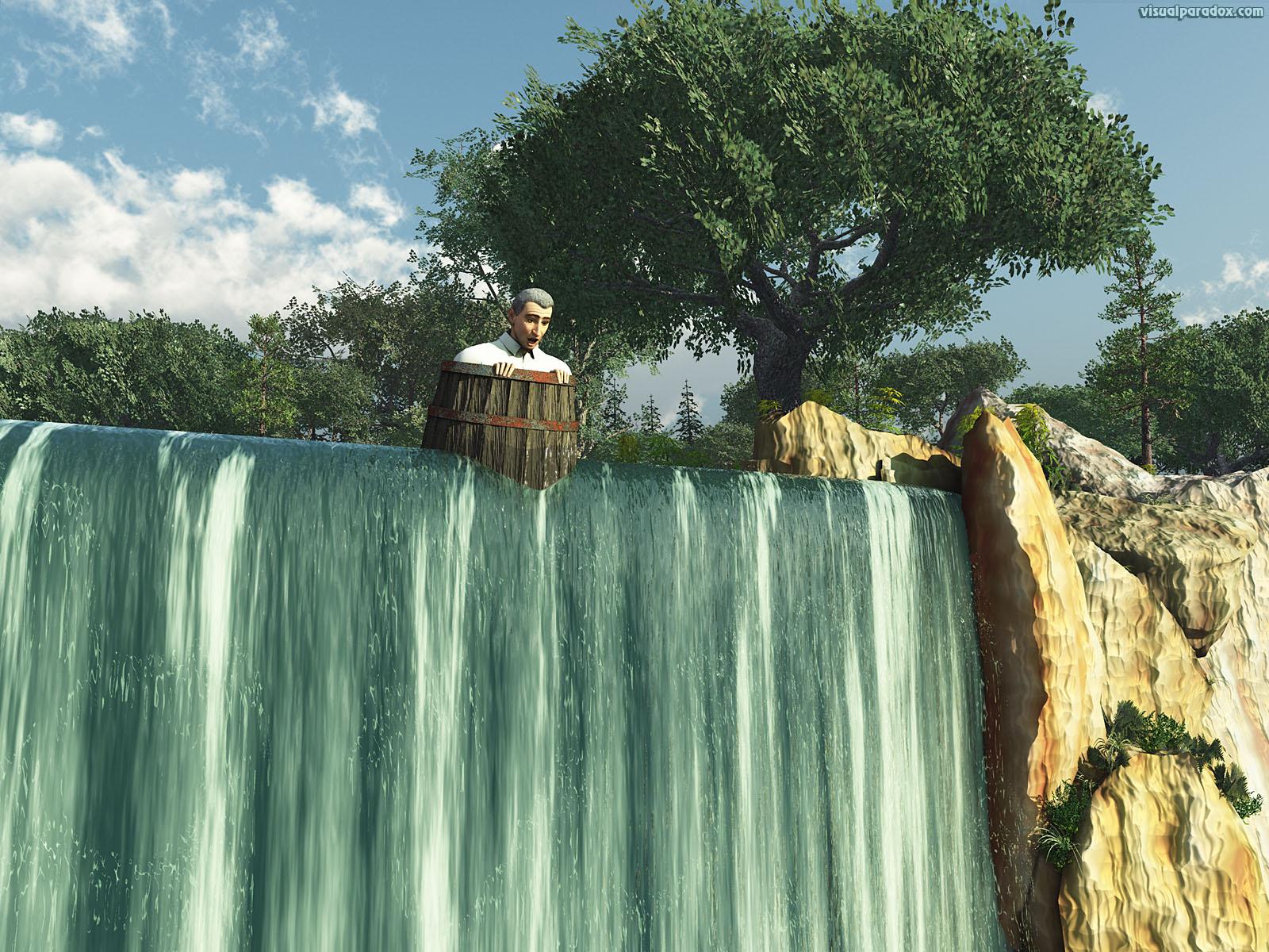 free 3d wallpaper 39 over the falls 39 1600x1200