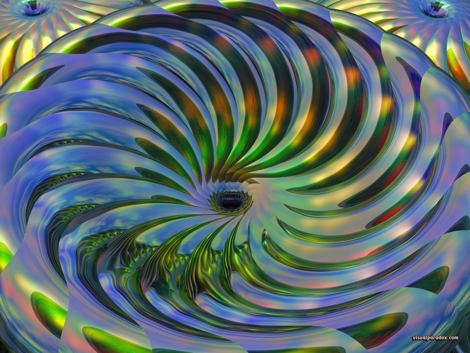 swirl, spin, twist, whirlpool, chrome, funnel, abstract, motion, 3d, wallpaper