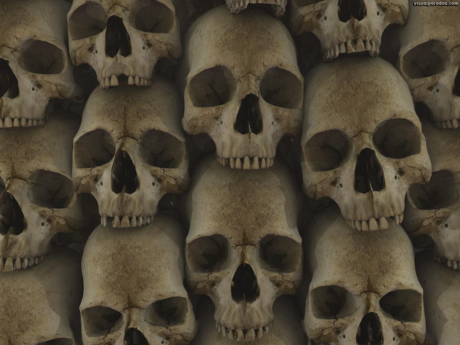 Stack les catacombes crypt gothic skulls bones 3d wallpaper