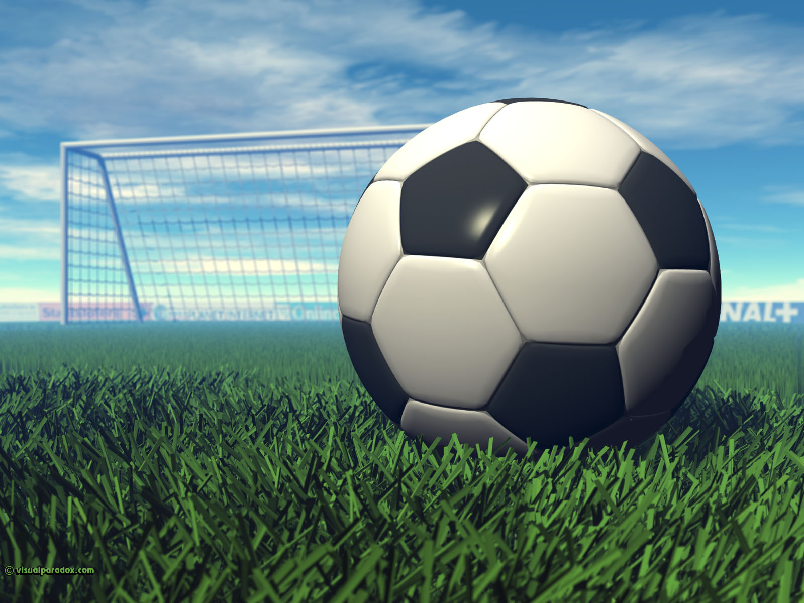 sport, football, goal, grass, game, ball, kick, sports, 3d, wallpaper