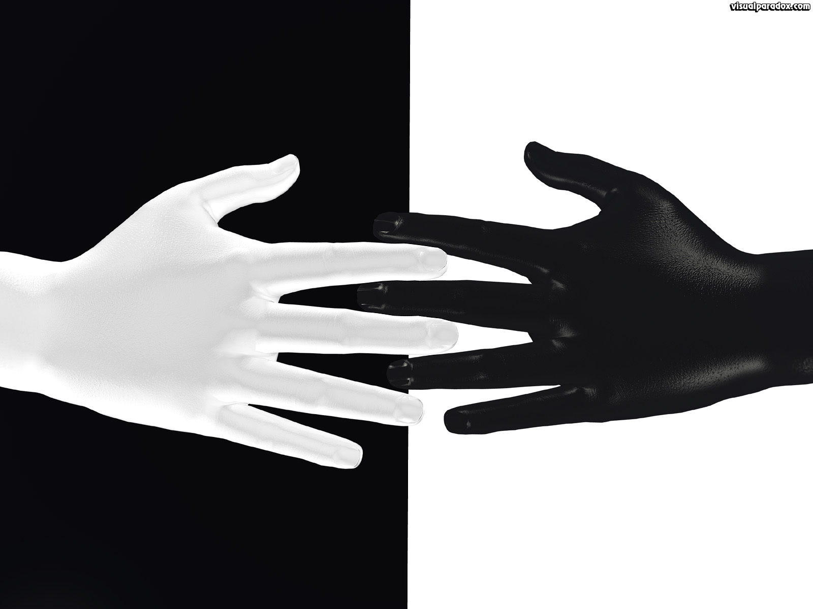 Free 3d wallpaper 39 ten fingers 39 1600x1200 for Black and white 3d wallpaper