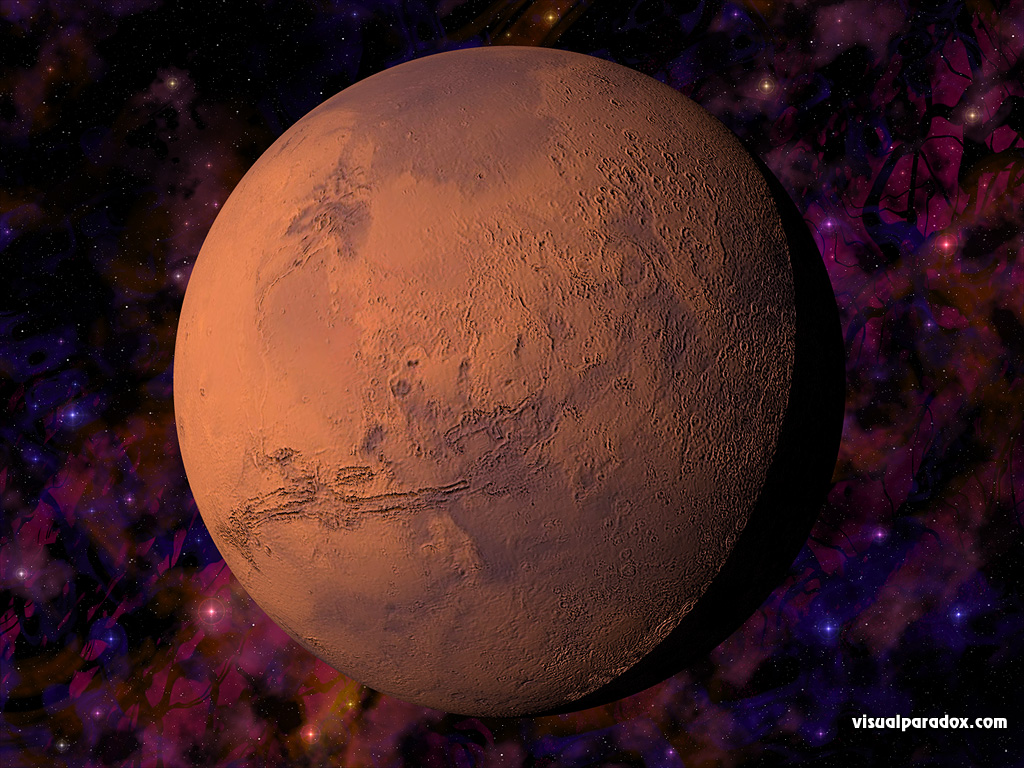 planet, red, space, globe, stars, sphere, fourth, planets, 3d, wallpaper