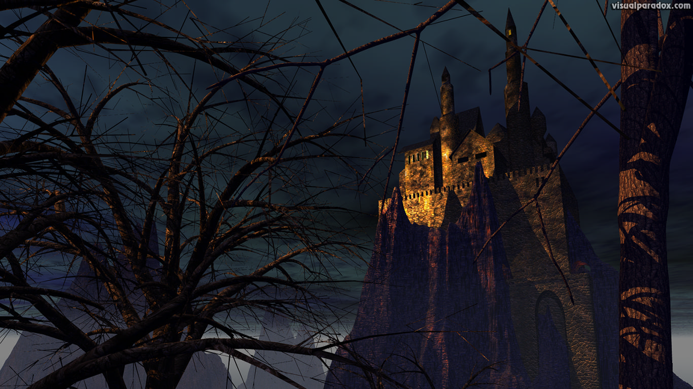 castle, tower, fort, keep, mountain, castles, stone, high, top, skyscraper, monistary, manor, lord, king, abbe, potter, hogwarts, 3d, wallpaper