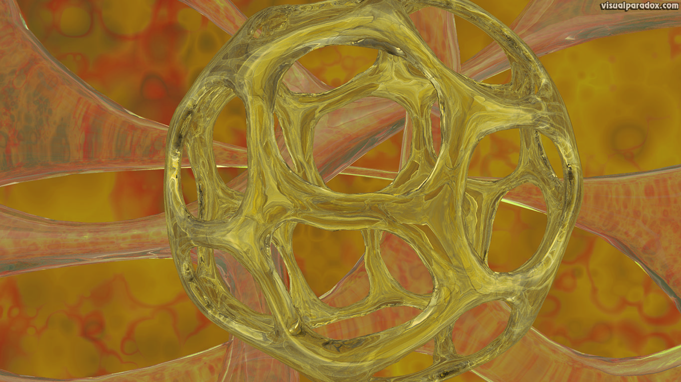 glass, organism, yellow, amber, crystal, microorganism, sphere, ball, cage, 3d, wallpaper