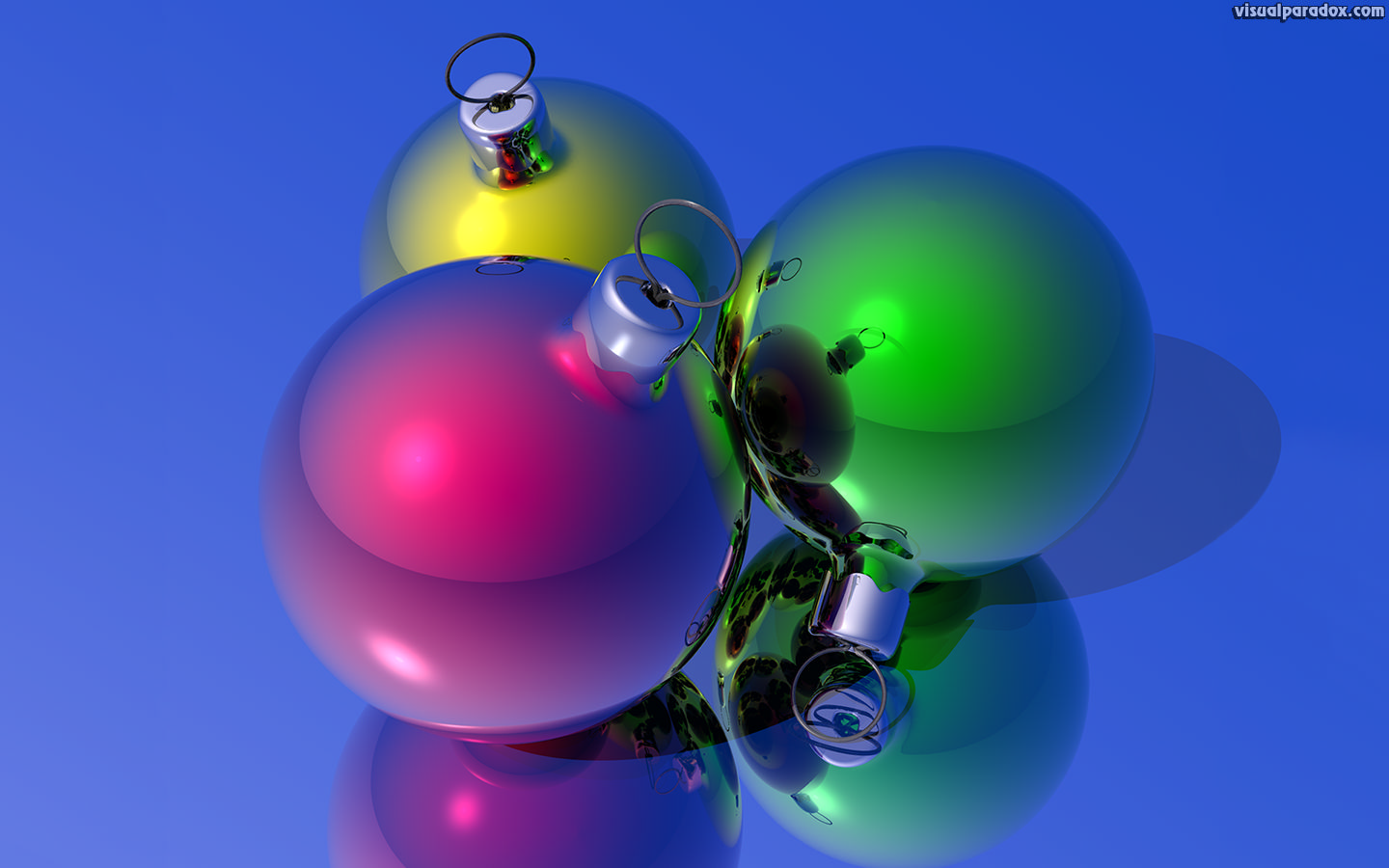 christmas, holiday, x-mas, decorations, glass, balls, bulbs, ball, 3d, wallpaper