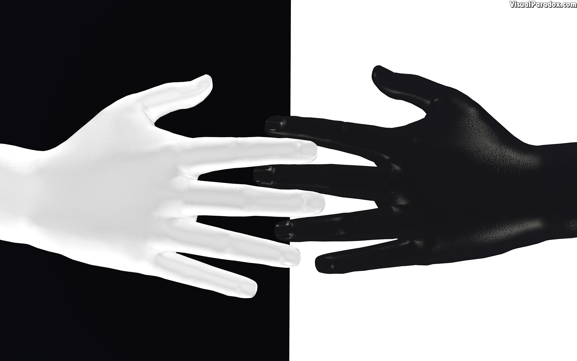 hands, digits, black, white, color, colour, contrast, touch, 3d, wallpaper