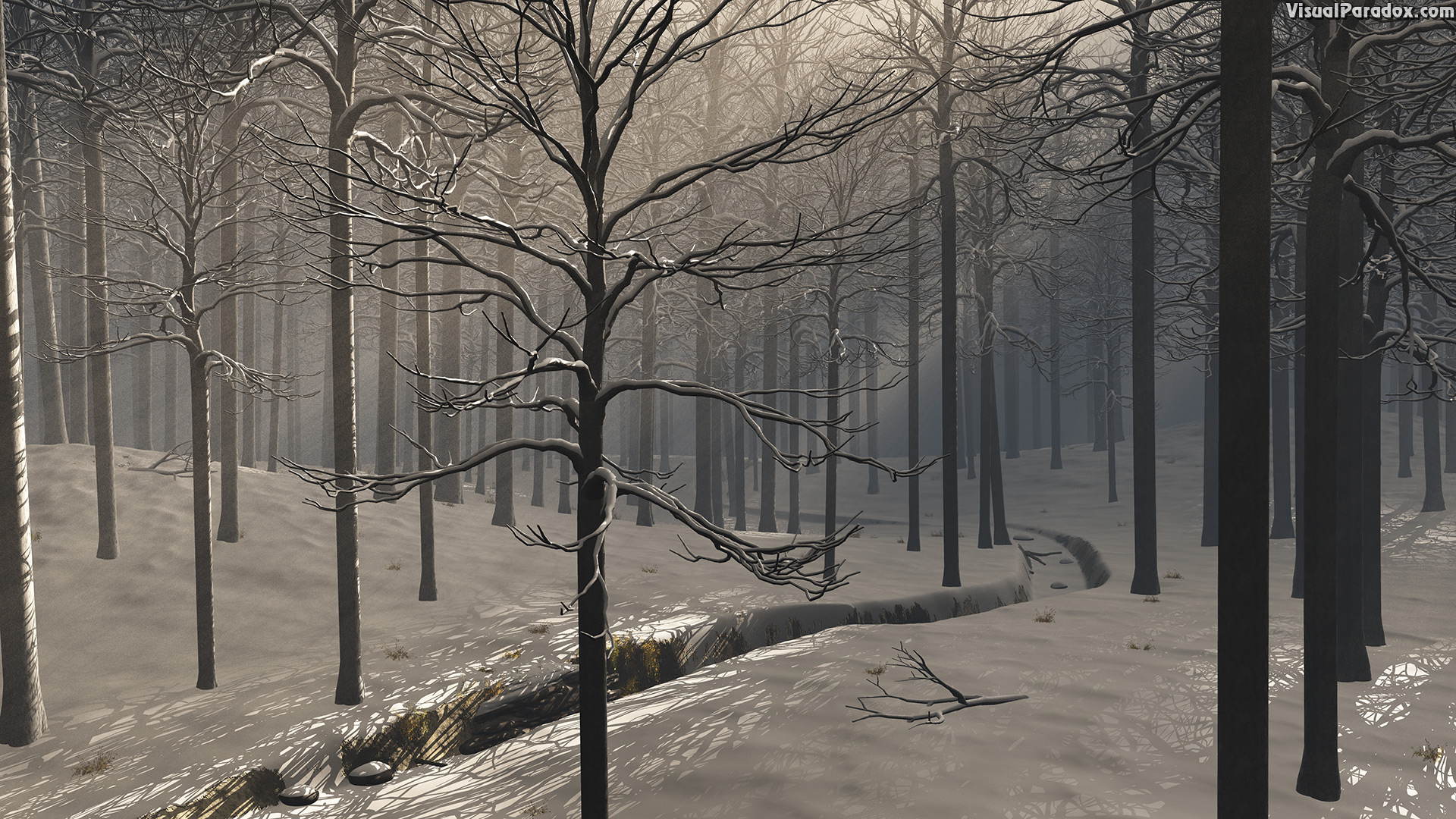 background, bar, beautiful, beauty, black, blue, branch, cold, creek, dark, elegance, elegant, environment, evil, fear, fog, foggy, forest, freezing, frozen, ground, horror, ice, landscape, light, magic, mist, misty, monochrome, mood, morning, mystery, nature, night, peaceful, quiet, ray, rays, scene, scenic, season, serene, shadow, silent, snow, snowy, spooky, sun, tranquil, tree, weather, white, winter, wood, 3d, wallpaper