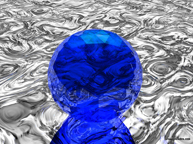 sphere, chrome, ripples, transparent, ball, reflections, mercury, free, 3d, wallpaper