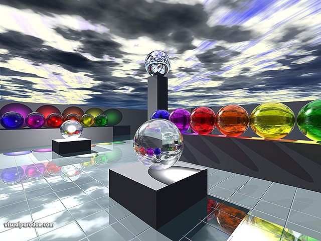 hues, glass, sphere, primariy, abstract, clouds, rainbow, balls, spheres, free, 3d, wallpaper