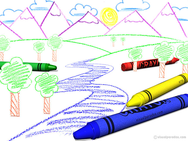 crayon, color, draw, child, blue, yellow, red, green, colors, kid, book, paper, coloring, drawing, free, 3d, wallpaper