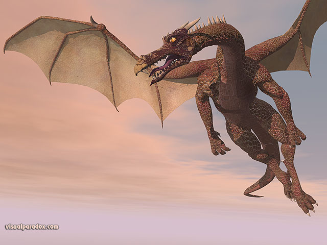 fly, wyrm, mythical, monster, soar, dragons, free, 3d, wallpaper
