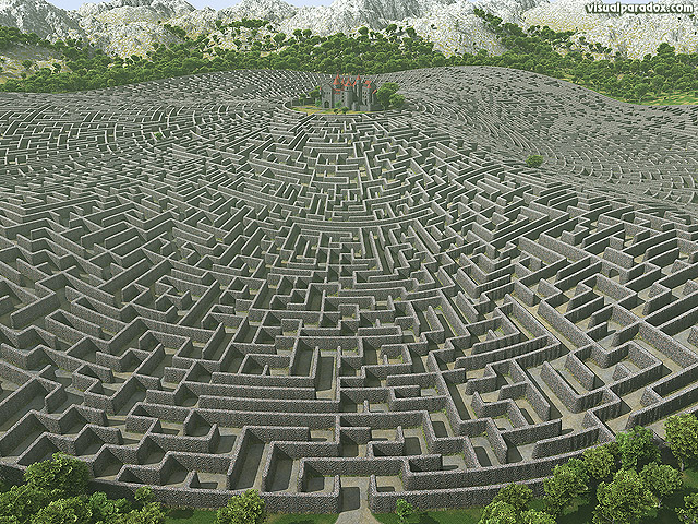 castle, walls, maze, labyrinth, fortress, manor, estate, fantasy, lost, defense, defend, protected, free, 3d, wallpaper