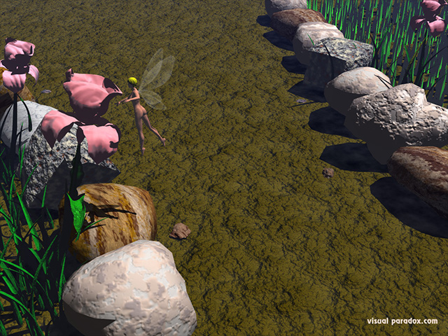 fairy, flowers, fly, road, small, smell, free, 3d, wallpaper