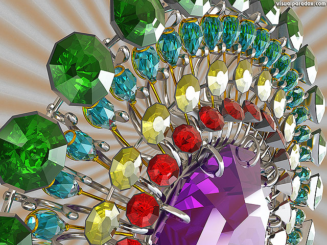 jewel, gem, diamond, ruby, broach, jewelcraft, wheel, fortune, treasure, stone, free, 3d, wallpaper