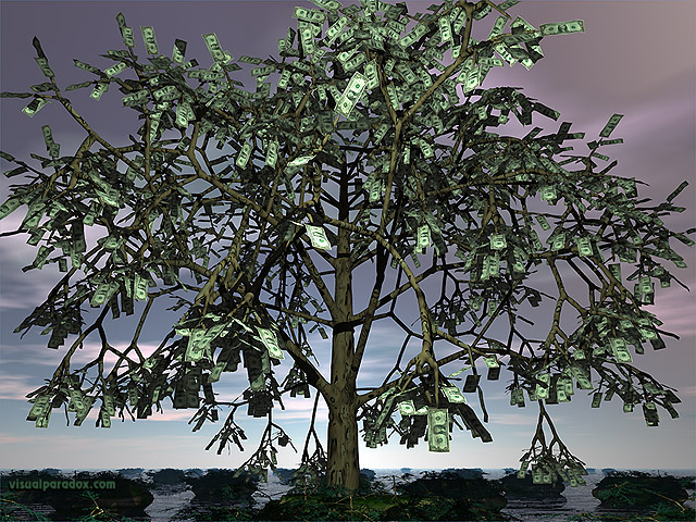 dollar, cash, currency, bills, growth, leaf, leaves, dollars , free, 3d, wallpaper