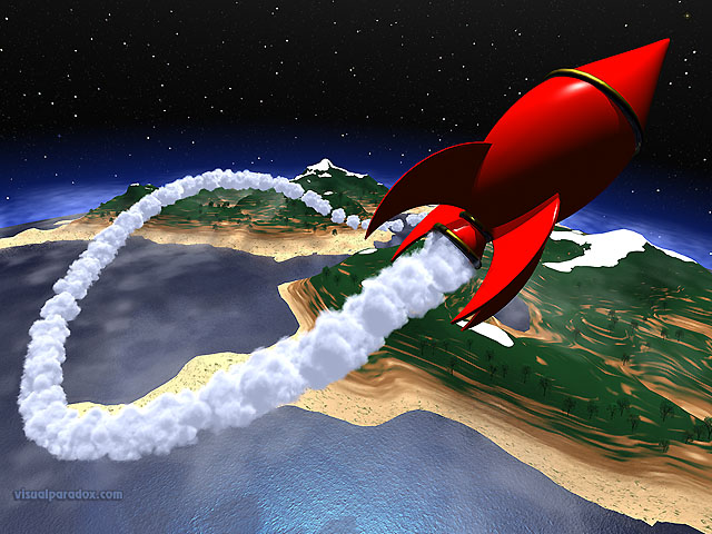 space, earth, planet, rocket, landing, fly, blast, off, cartoon, stars, ship, free, 3d, wallpaper