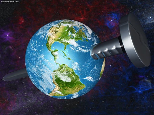 big, bolt, clouds, concept, construction, earth, ecology, gray, green, hammer, hit, hold, humor, iron, metal, metallic, nail, nebula, nebulae, pin, planet, power, shiny, space, spike, stars, strong, tool, work, world,nailed, free, 3d, wallpaper