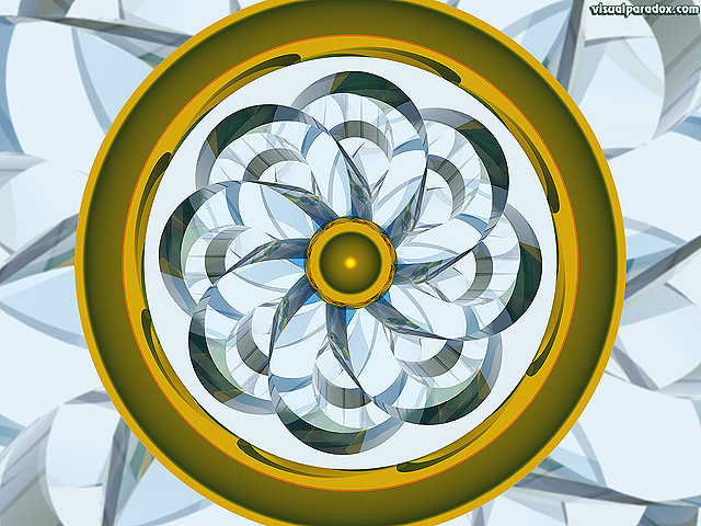 wheel, kaleidoscope, pinwheel, ring, absract, gold, glass, free, 3d, wallpaper