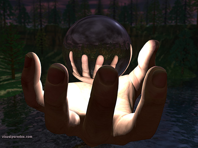 ball, sphere, hand, magic, wizard, chrome, float, free, 3d, wallpaper