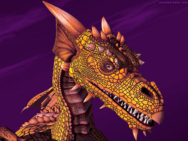 dragon, wyrm, mythical, monster, soar, closeup, detail, yellow, gold, copper, dragons, free, 3d, wallpaper